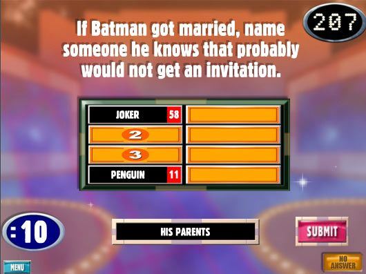 Playing Family Feud… :(