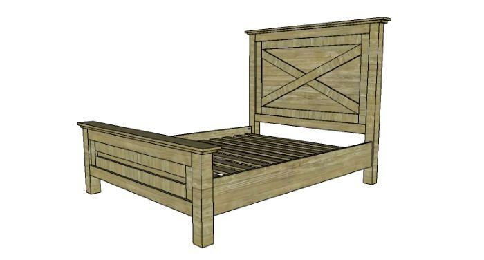 free farmhouse bed plans