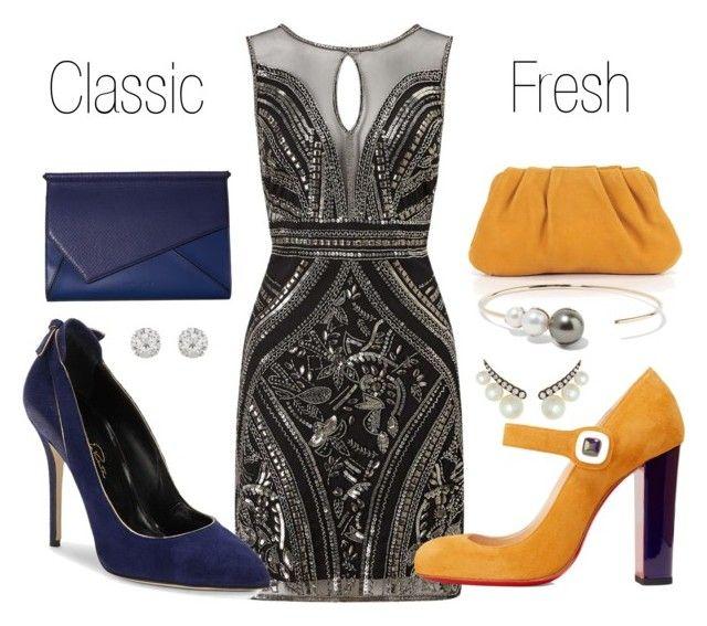"""1 dress 2 ways"" by k-si on Polyvore featuring Mode, Miss Selfridge, Oscar de la Renta, Christian Louboutin, Kendall + Kylie, J.Crew, mizuki, Accessorize und Jemma Wynne"
