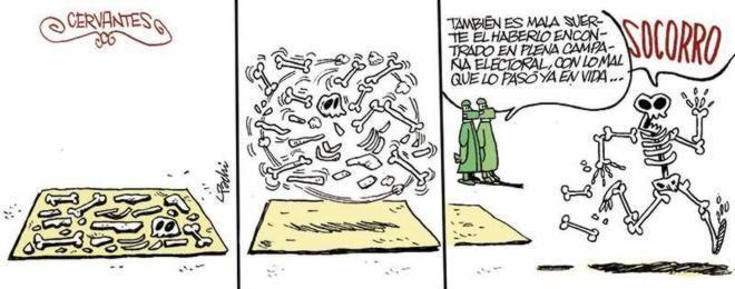 Cervantes huye de la campaña electoral
