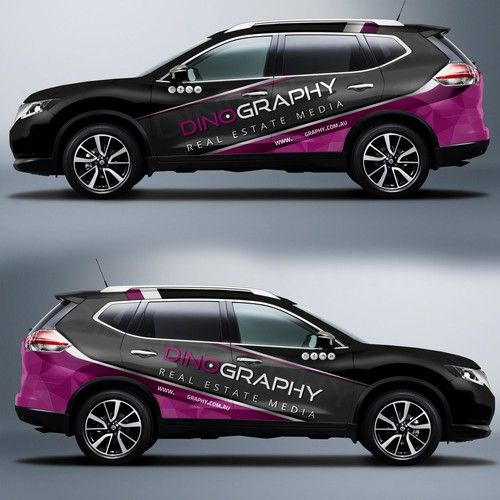 Design a eye-catching vehicle wrap for this market leading real estate media production company! Design by J.Chaushev