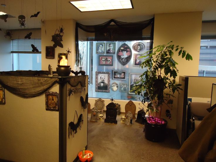 office halloween cubicle decorating contestchallenge accepteddo you even
