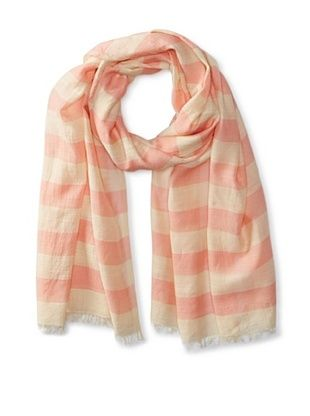 63% OFF Carolina Amato Women's Striped Scarf, Cream/Blush