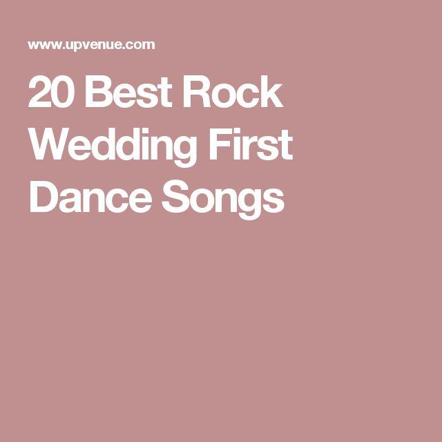 20 Best Rock Wedding First Dance Songs