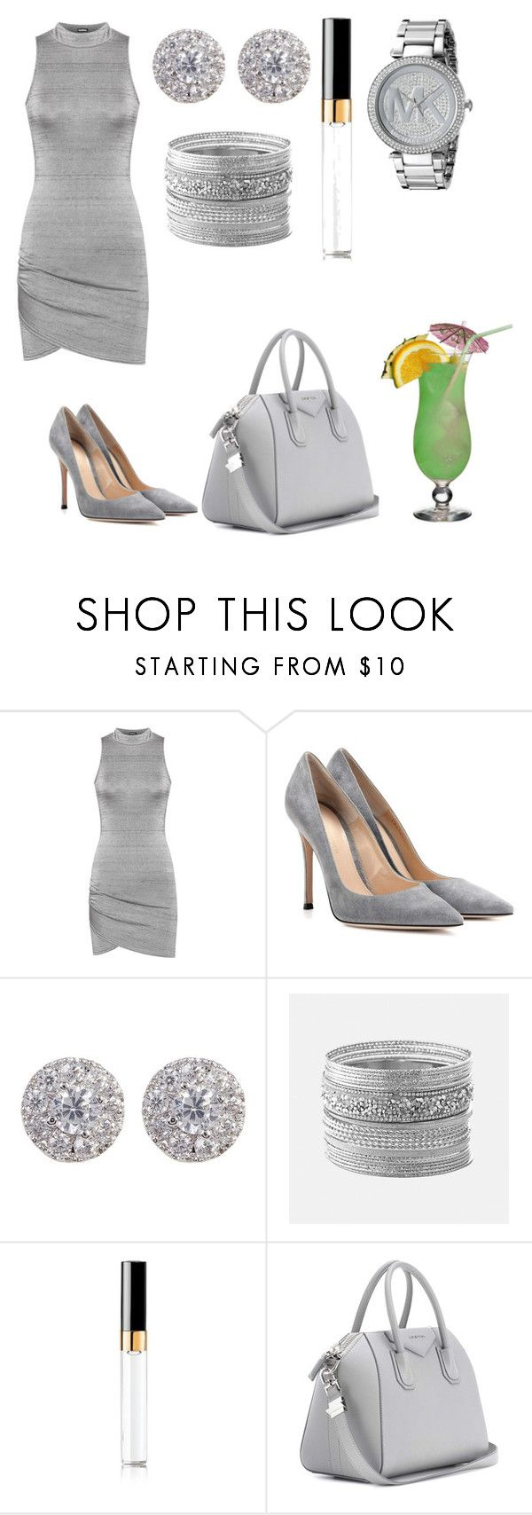 """Happy Hour Mock"" by laylayoung2003 ❤ liked on Polyvore featuring WearAll, Gianvito Rossi, Nordstrom Rack, Avenue, Chanel, Givenchy and Michael Kors"