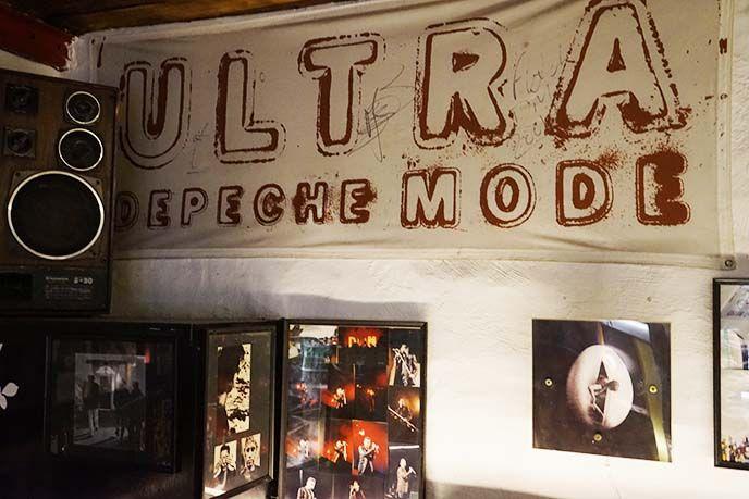 depeche mode baar, tallinn fan bar in Tallinn, Estonia. More images, address, directions to Depeche Mode DM Baar at http://www.lacarmina.com/blog/2016/11/tallinn-depeche-mode-bar-estonia-food-tour/