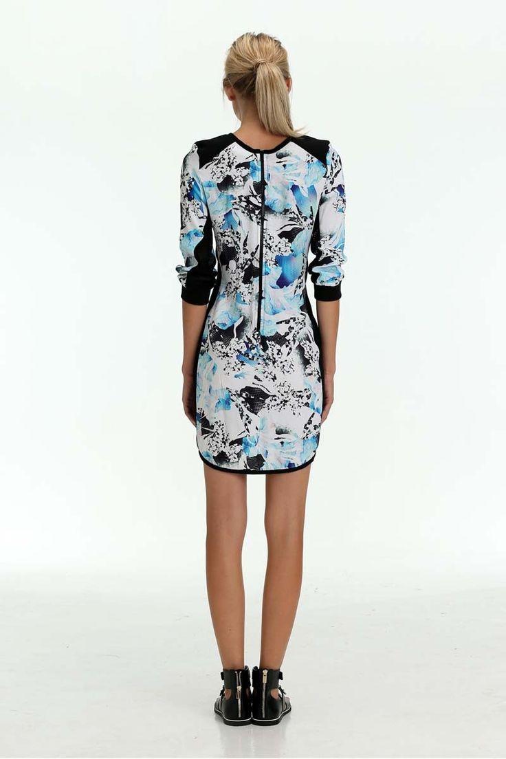 The Shanti Butterfly - Multi Print Spring Awakening Long Sleeve Mini Dress