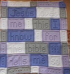 """Jesus Song blanket by Jody Pyott @ Ravelry/ 44"""" x 50"""" / CROCHET pattern"""