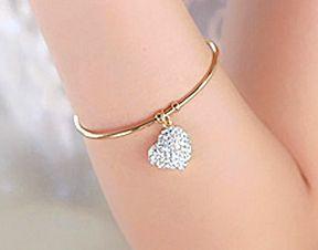 Bransoletka z Cyrkoniowym Serduszkiem #bransoletka #bracelet #serce #heart #crystals