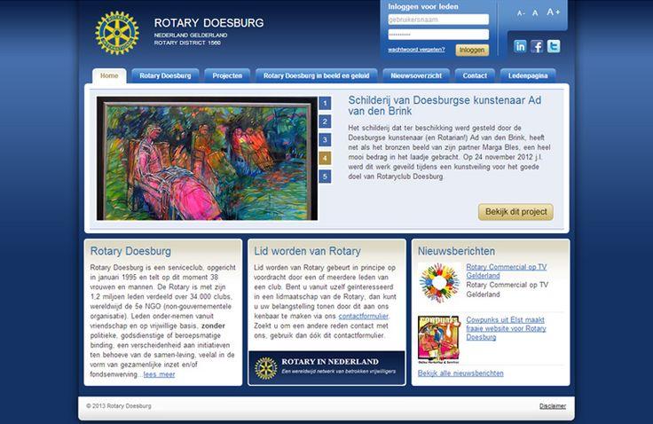 Cowpunks heeft een speciale website ontwikkeld voor Rotaryclubs in Nederland en Vlaanderen. http://cowpunks.nl/portfolio_webdesign_websites_webapplicaties_onlinemarketing/rotary_doesburg