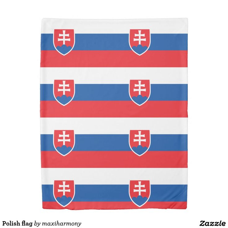 Polish flag duvet cover