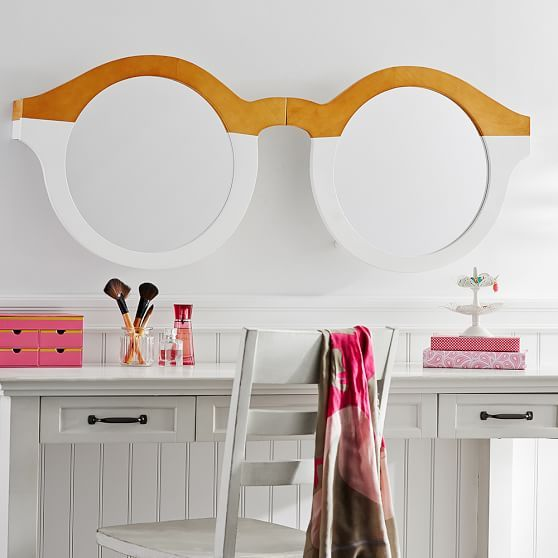 3-D Glasses, Wood And Mirror | PBteen