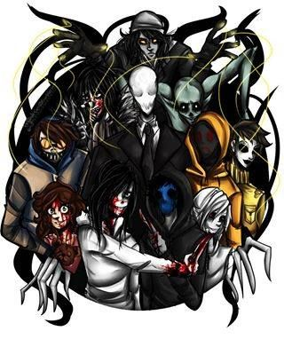 The Puppeteer, Laughing Jack, Ticci-Toby, Sally, Jeff The Killer, Slenderman, Eyeless Jack, The Rake, Hoodie, Masky, and Ben Drowned.