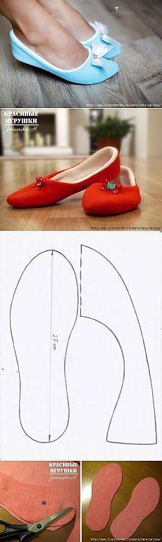 Coser zapatillas de casa para  mujeres y curiosos.