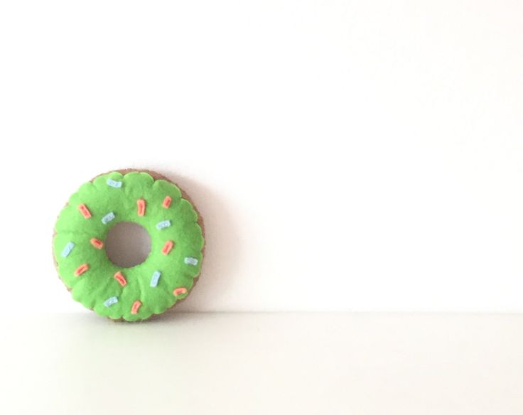 Green donut cushion, nursery cushion, decorative pillow for kids by TadiDesigns on Etsy