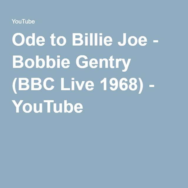 Ode to Billie Joe - Bobbie Gentry (BBC Live 1968) - YouTube