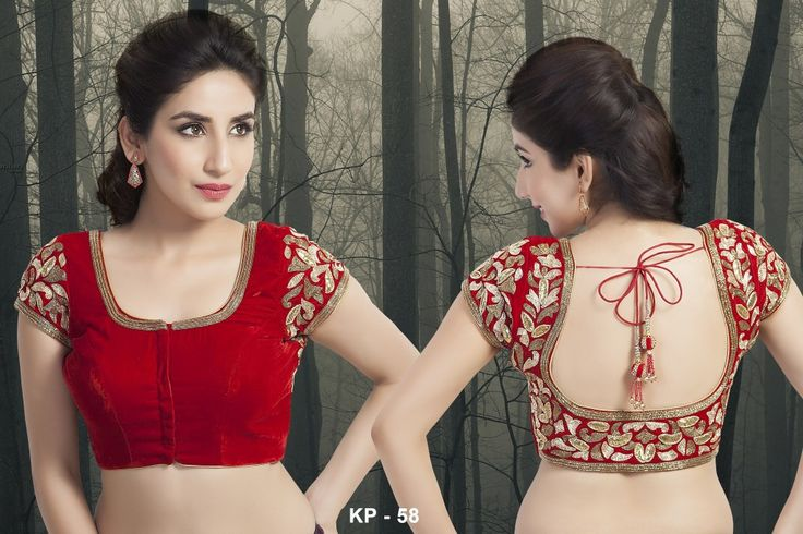 Looking for great photographs of velvet party saree blouse designs!! This article has the best and most stylish collection.
