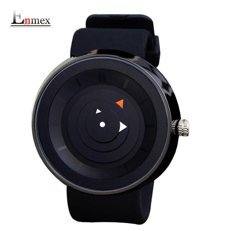 2016 men's gift Enmex men women creative  brief wristwatch  waterproof  simple design light sports casual fashion quartz watches