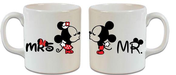 Minnie Mouse – Mickey Mouse Sevgiliye Özel Öpüşen 2'li Kupa – 2 - Şu An Sadece 29,90 TL! Online Siparişe Özel Tasarımlar, Mağazalarda Yok! - Kapıda Ödeme - Süper Baskı ve Penye Kalitesi