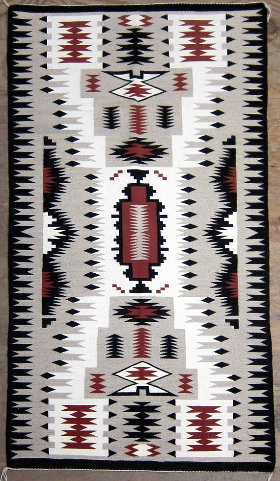 Native American Navajo Hand Woven Storm Pattern by CulturalPatina