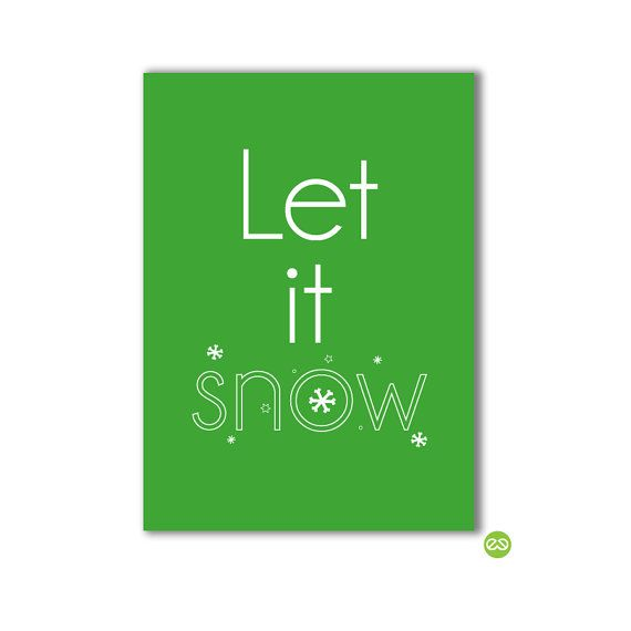 Christmas card 'Let it snow'. Buy it in my etsy shop! Or send me an e-mail ontwerp[at]vitamine-ce.nl