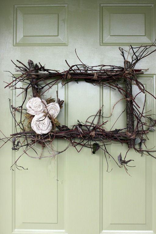 Twig wreath. Super cute!