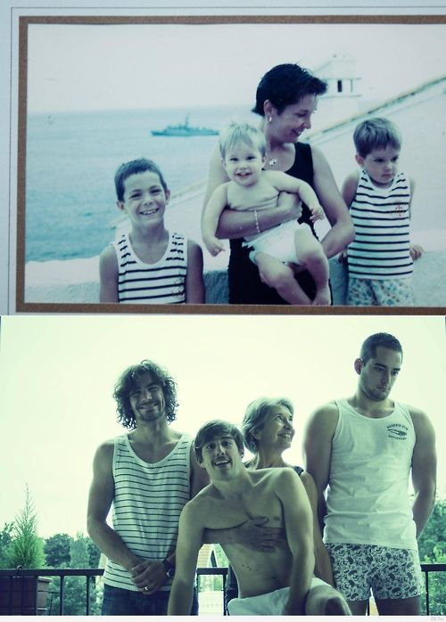 old family photo recreated - love this idea!