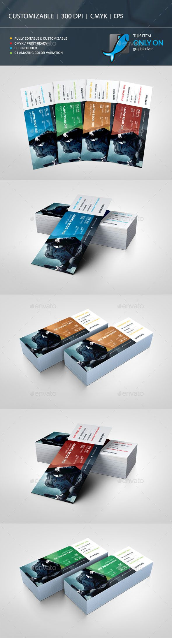 Event Ticket Template Vector EPS, AI Illustrator                                                                                                                                                     More