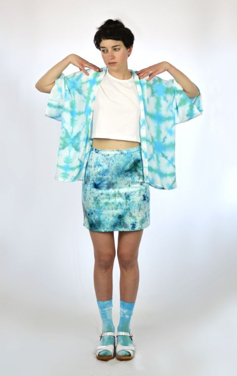 """""""Oh Yoko"""" Kimono in 'Moonage Daydream"""" Hand Dyed and Made in Melbourne by @Ghostly"""