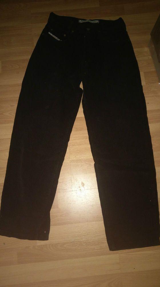 Picaldi Cord Jeans Hose Schwarz / Black W30 L32 . gay Skater sk8er