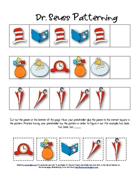 for Author Study-DR SEUSS: Dr. Seuss patterning (and tons of other Dr.
