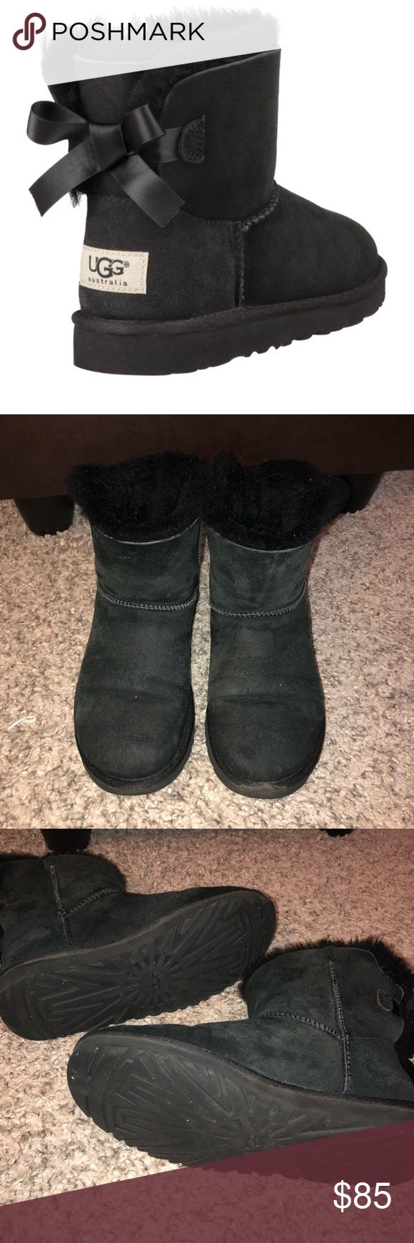 Ugg mini bailey bow boots - Ugg Bailey bow boots - Used but still in great condition - Still lots of wear left - Waterproof guard  - Will clean well before shipping - Offers and questions welcome! - Willing to negotiate :) UGG Shoes Winter & Rain Boots