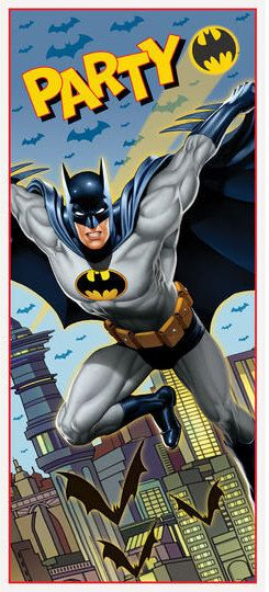 Batman ''Gotham Hero'' Plastic Door Poster by ElsaPartySupply on Etsy