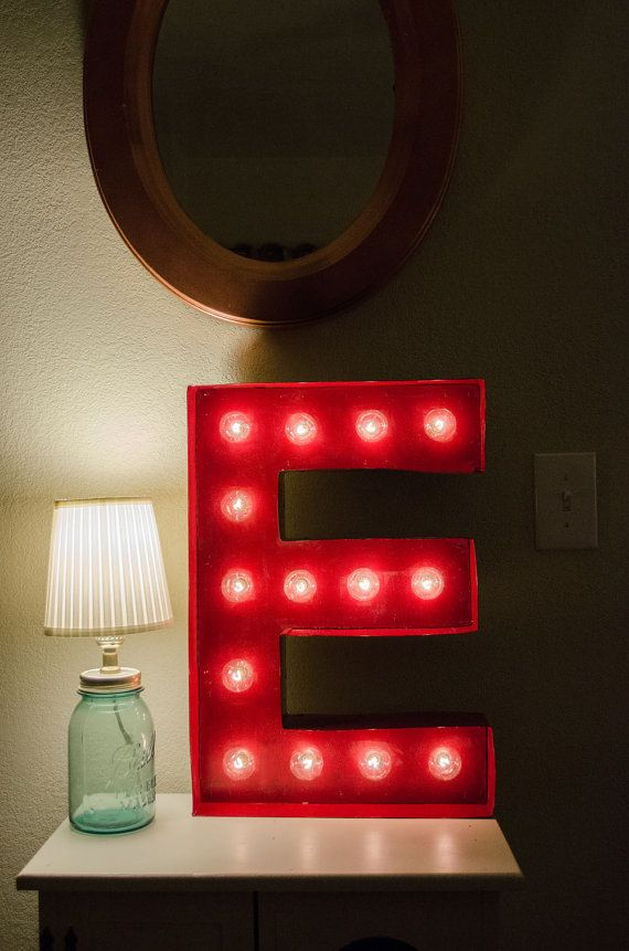Vintage Inspired Marquee Light Letter E by SaddleShoeSigns on Etsy, $150.00
