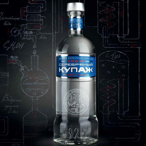 """Vodka """"Serebryaniy kupazh"""""""