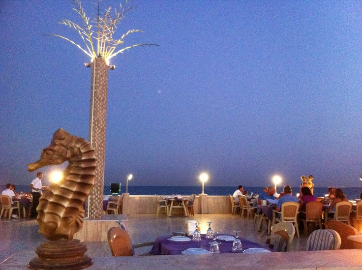 dining at Kiyi in the middle of the Mediterranean sea...
