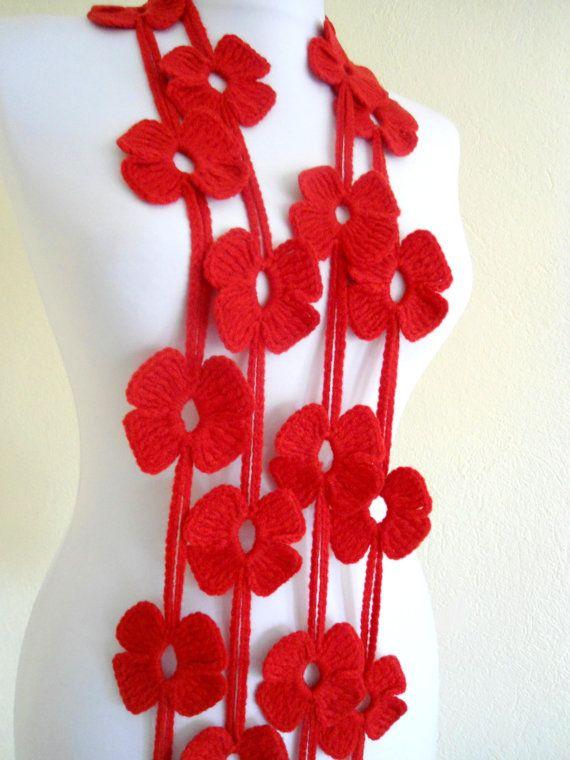 420 Best Crocheted Knitted Flowers Images On Pinterest Crocheted