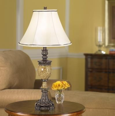 A Traditional Lamp Shade with a Bell Shape