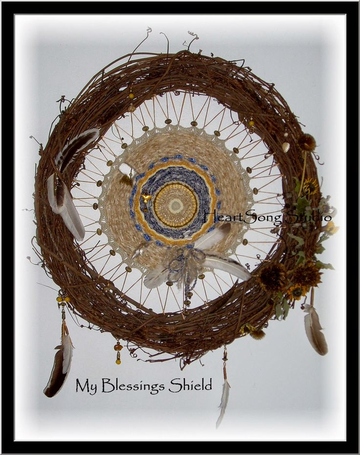 HeartSong Studio: The Blessings Shield -- Circle Weaving, Circular Weaving by Laura Abbott, HeartSong Studio