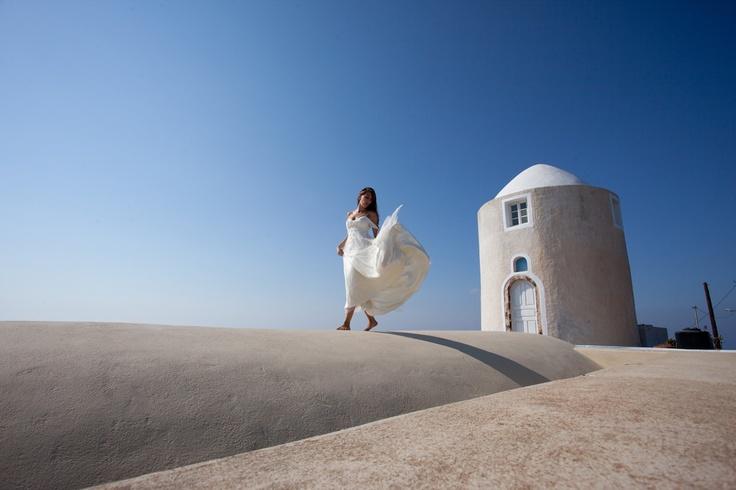 destination wedding in santorini island