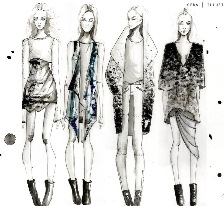 Fashion Sketchbook - fashion illustrations; fashion sketches; fashion portfolio // Chelsey Burgess