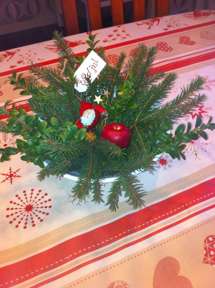 Egen tillverkad enkel julgrupp från vår trädgård