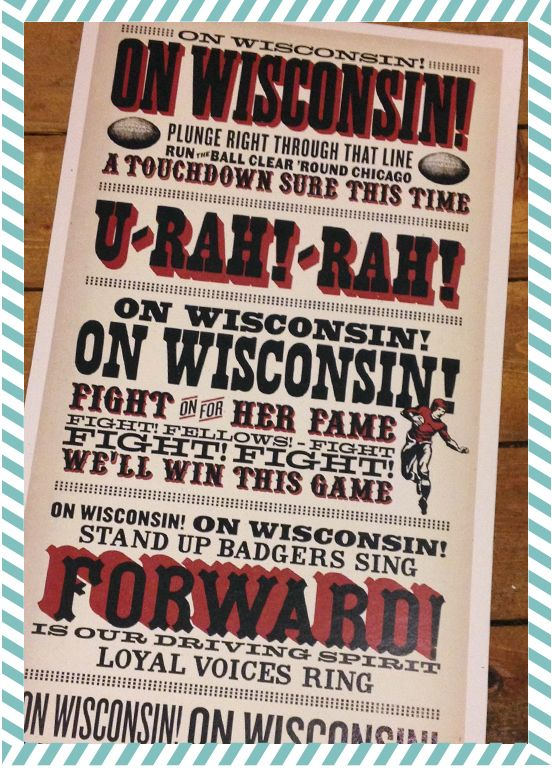 ON WISCONSIN!