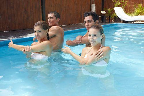 Water aerobic workout