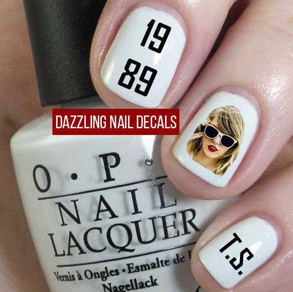 Taylor Swift 1989 Nail Decals by DazzlingNailDecals on Etsy