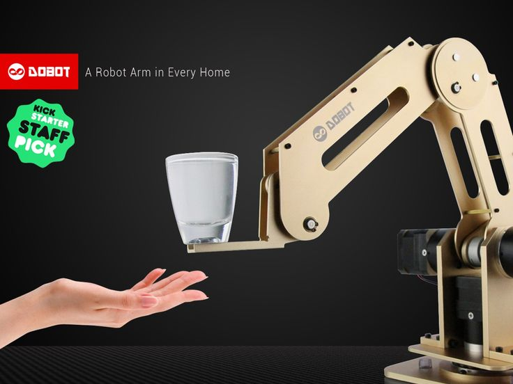 Designed for DESKTOP. Arduino-powered, 4-axis parallel-mechanism robot arm with High Quality. Bring industrial robot to everyone! TOOL