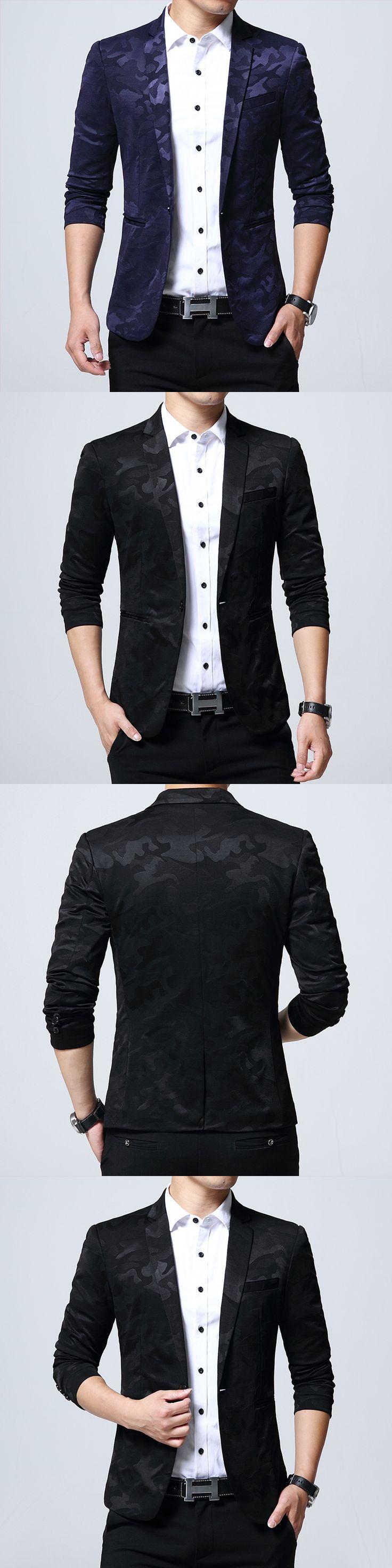 2017 Fashion Men'S Suit Shining Pattern Luxury Casual Men'S Men'S Camouflage Clothing Vintage Wedding Groom Suits 5XL