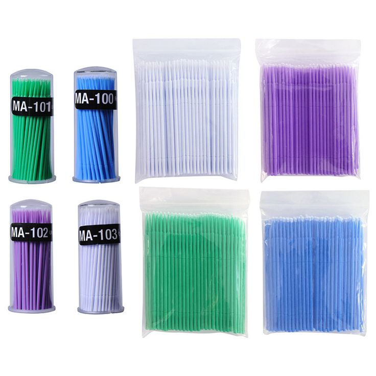100pcs/lot Micro Durable Disposable Eyelash Extension Individual Applicators Mascara Brush For Women Eyelash Glue Cleaning Stick #>=#>=#>=#>=#> Click on the pin to check out discount price, color, size, shipping, etc. Save and like it!