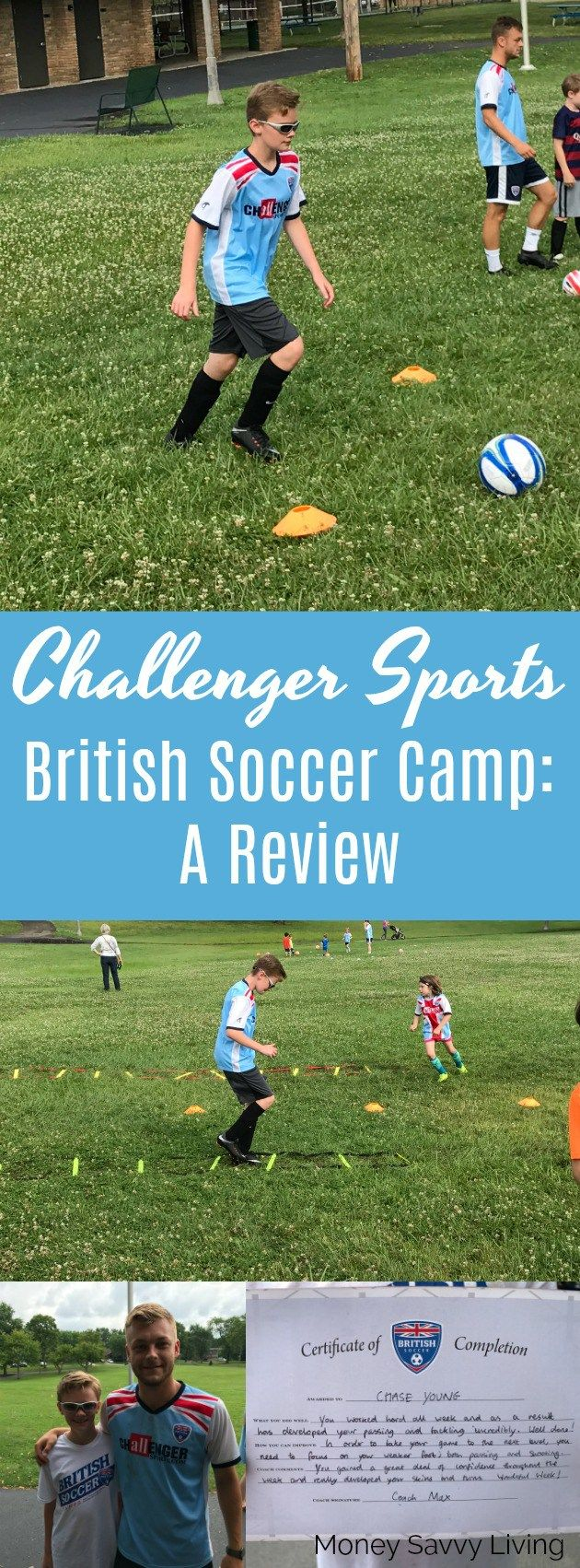 Challenger Sports British Soccer Camp: A Review // Money Savvy Living #soccer #SummerCamp