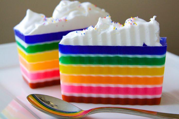 Resep Rainbow Cake - Cara Membuat Rainbow Cake (Rainbow Cake)